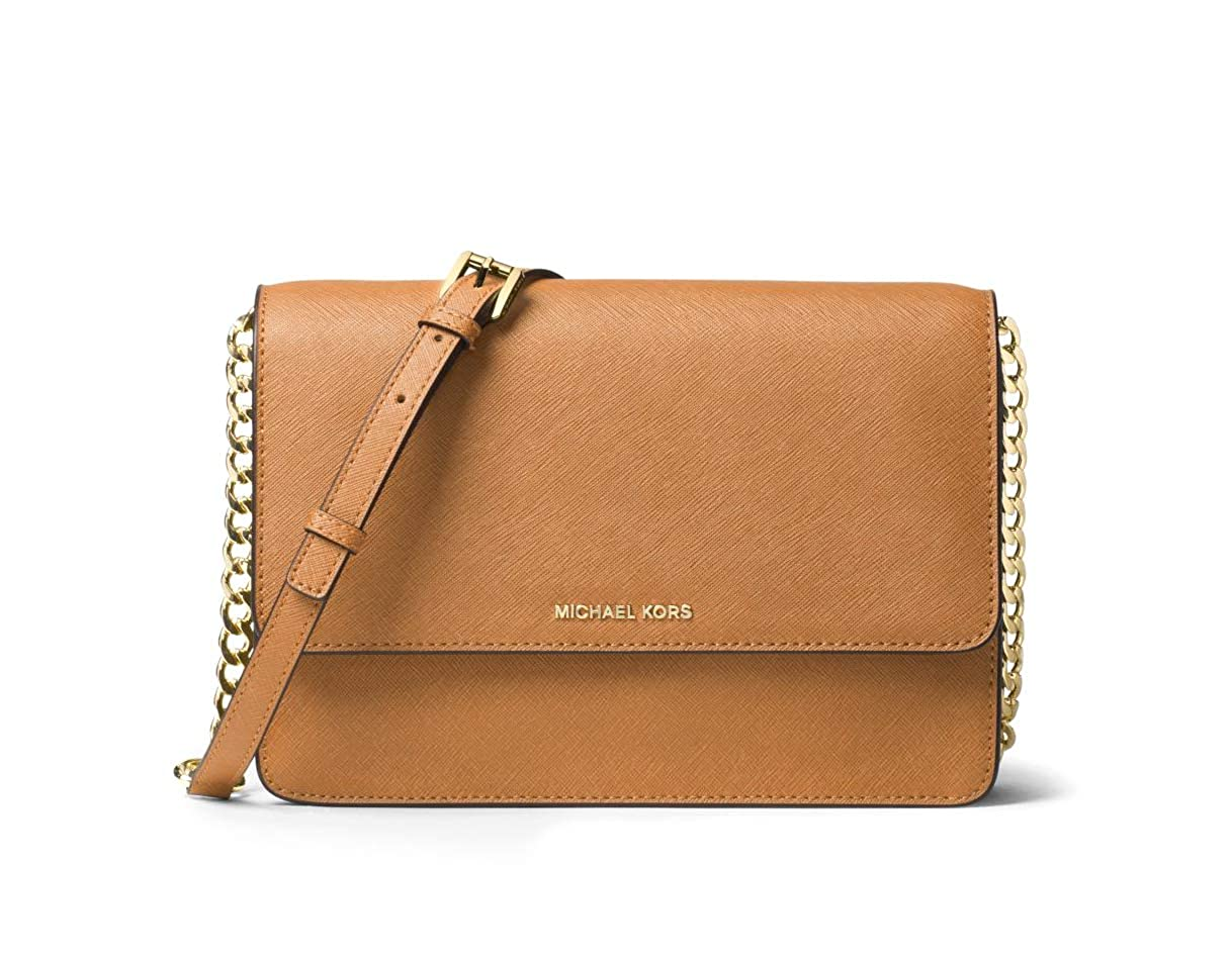 d7540d7ea34be4 Michael Kors Daniela Large Saffiano Leather Crossbody Bag - Acorn: Handbags:  Amazon.com