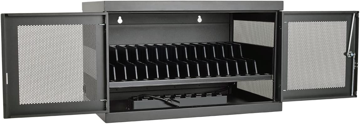 Tripp Lite 16-Port AC Charging Storage Station Cabinet for Chromebooks, Laptops & Tablets, 17
