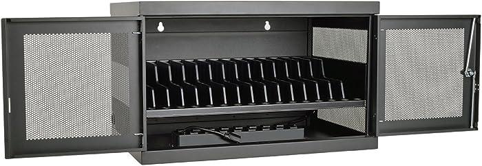 Tripp Lite 16-Port AC Charging Storage Station Cabinet for Chromebooks, Laptops & Tablets, 17