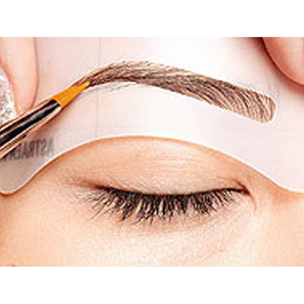 Eyebrow Stencil Eyebrow Shapeing Kits Templates Shaper Set of 8 C1-C8 Home Holic