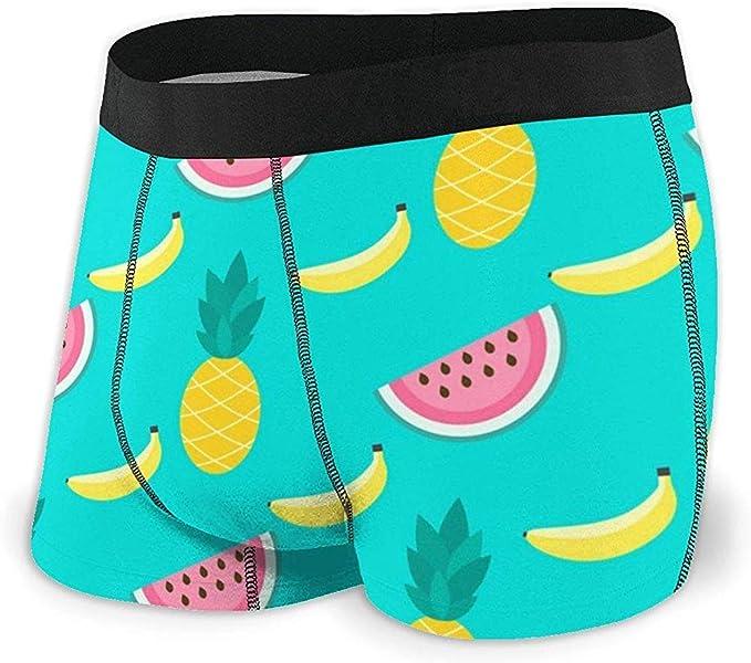 Web--ster Calzoncillos Boxer para Hombre Sandías Plátanos Piñas Ropa Interior cómoda para Hombres: Amazon.es: Ropa y accesorios