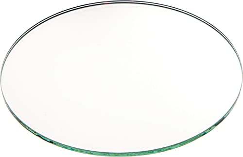 Plymor Round 3mm Non-Beveled Glass Mirror, 5 inch x 5 inch Pack of 144