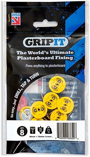 Gripit - Yellow/15mm - Pack of 8