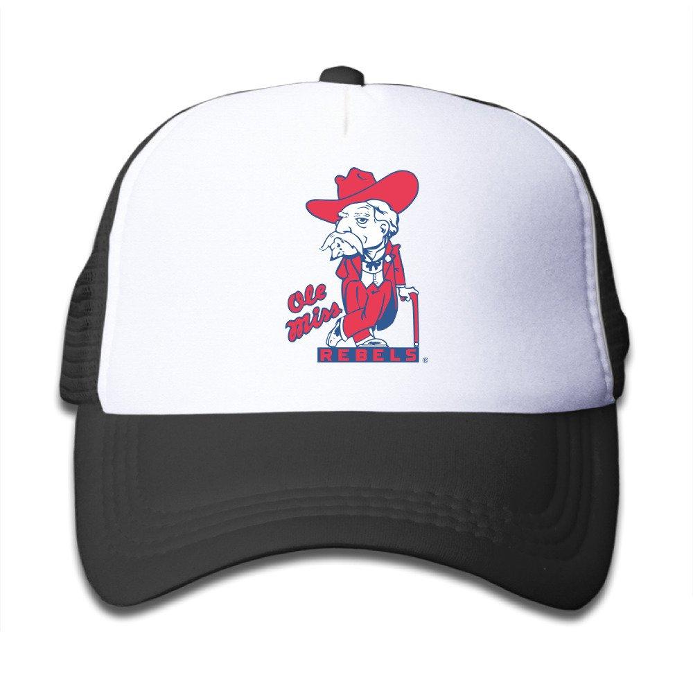 0d43615b08f7c Amazon.com  Ole Miss Rebels Football Hugh Freeze Snapback Hats Baseball  Peaked Trucker Caps For Youth  Clothing