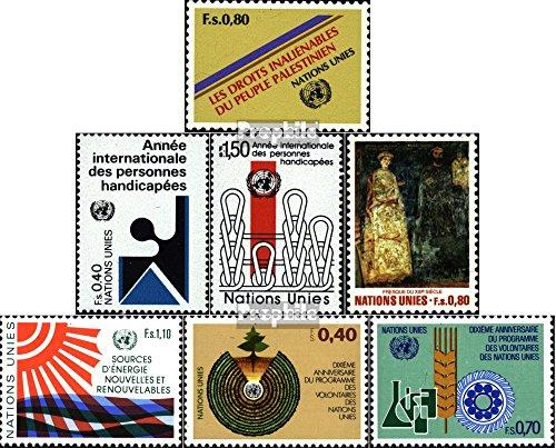 UN - Geneva 96,97-98,99,100,101-102 (Complete.Issue.) Volume 1981 completeett 1981 Palestine, Art u.A. (Stamps for Collectors) Health