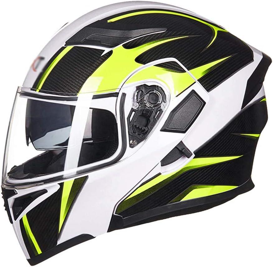 DaMuZ Klapphelm Integralhelm Helm Motorradhelm Rollerhelm Flip-up Integral Helm ECE Genehmigt Motorrad Mopedhelm mit Doppelvisier Sonnenblende f/ür Erwachsene M/änner Women