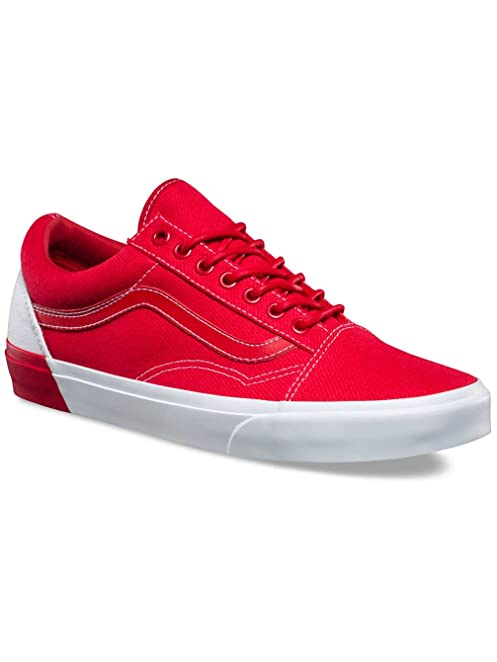 vans old skool red and white