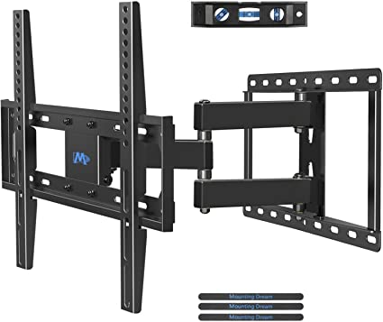 "FULL MOTION TV Wall Mount 23-55/"" inch Swivel One Arm TV Bracket Up To 66Lb LCD"