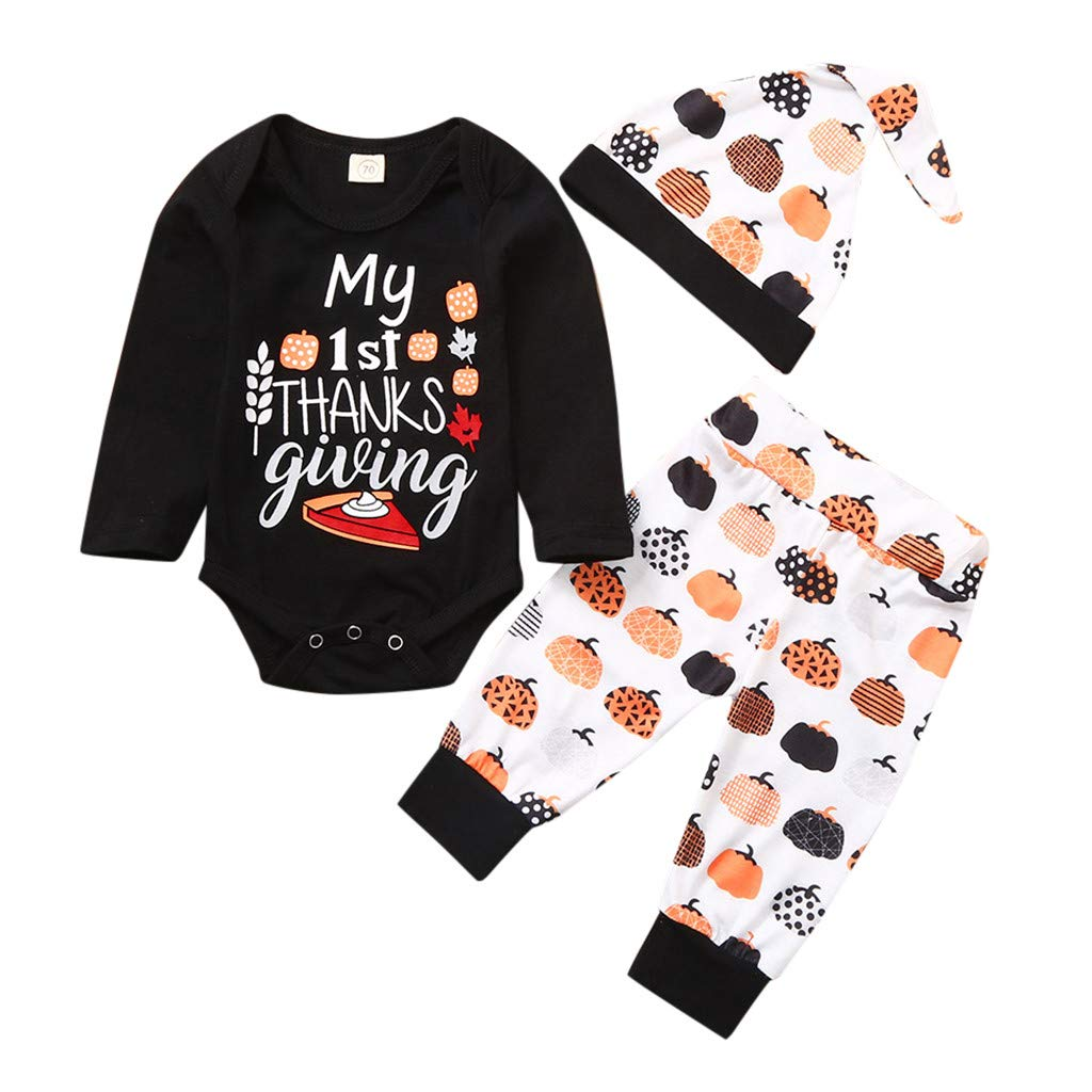 Gallity Newborn Toddler Baby Jumpsuit Infant Baby Boy Girl Long Sleeved One Piece Romper Clothes Toddler Boy Knitting Romper Bodysuit Outfit Clothes 0-3 Months, Black