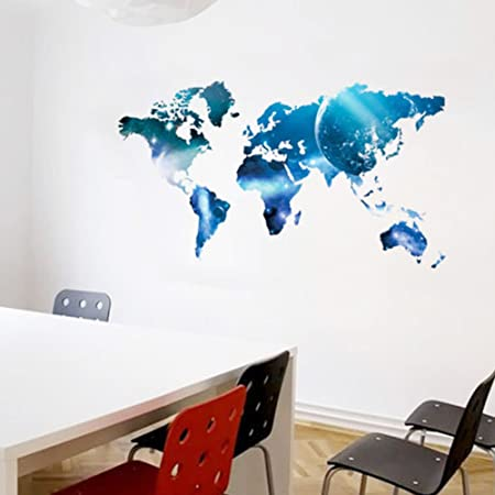 3d world map wall sticker star style mural decals art decor living 3d world map wall sticker star style mural decals art decor living room decoration gumiabroncs Gallery