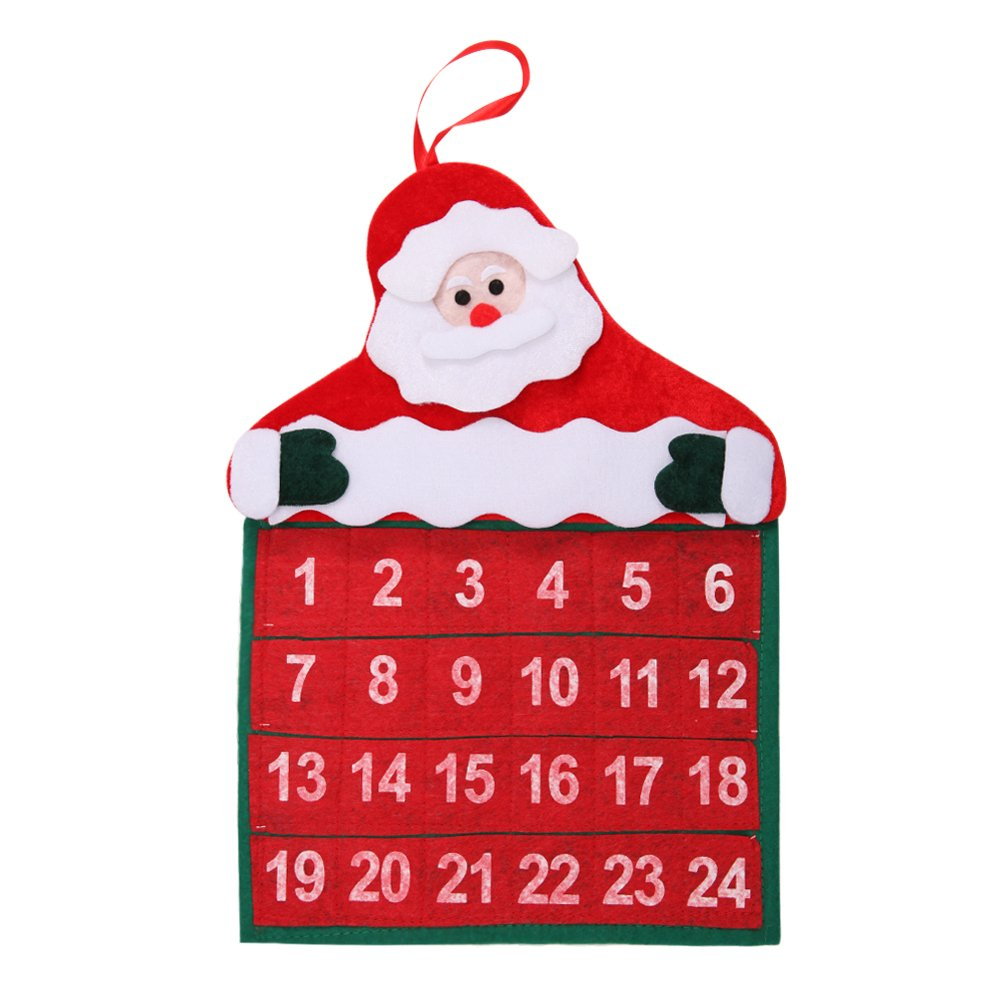 Lisli Santa Claus Father Christmas Advent Calendar Countdown Xmas Decoration Ornaments