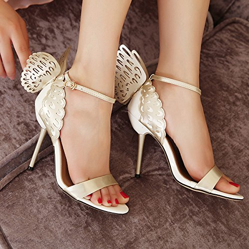 Papillon À Nude Escarpins Strap Femmes Chaussures Ankle Sandales Bout Parti Sexy Zpfmm Ouvert Talons Hauts q1wfYxat