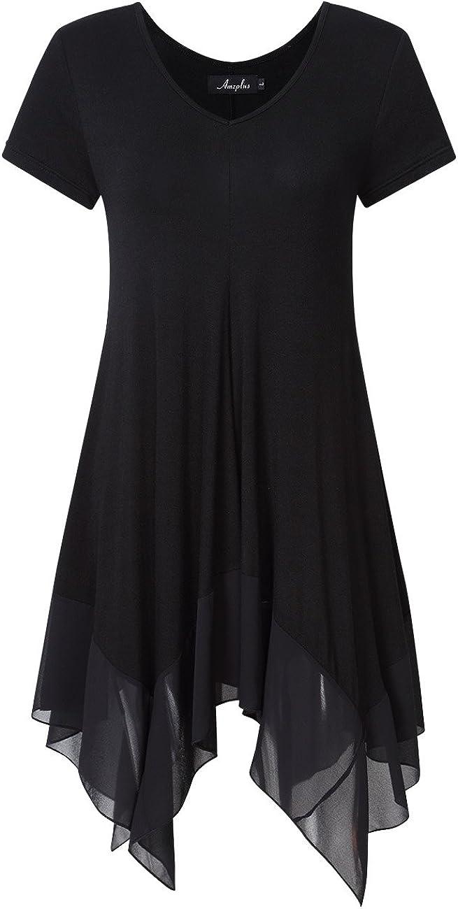 KOJOOIN Camicia Blusa Donna Elegante in Cotone Blusa Lunghi Orlo Irregolare Maglia Camicetta Casual Donna Taglie Forti