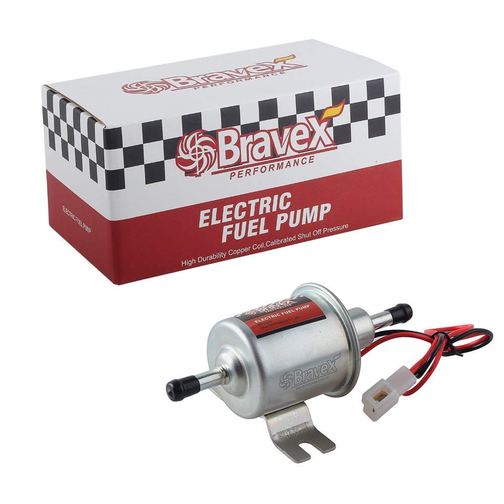 2.5-4 PSI Universal 12V Low Pressure 2.5-4 PSI Gas Diesel Inline Electric Fuel Pump HEP-02A
