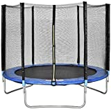 K&A Company 8 ft 244cm Combo Bounce Jump Safety Trampoline with Spring Safety Pad New Outdoor Play