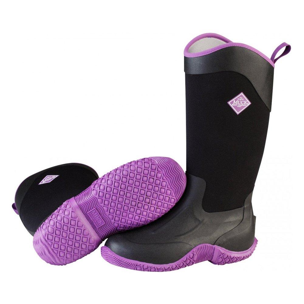 MuckBoots Women's Tack II Tall Equestrian Work Boot, Black/Purple, 6 M US