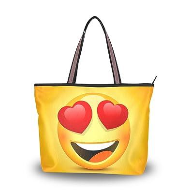Amazon.com: colourlife Love Emoji bolsa de hombro bolso de ...