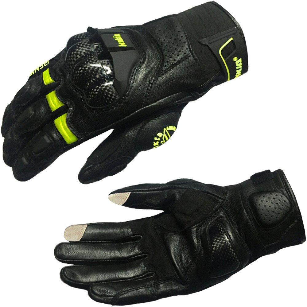 オートバイのタッチスクリーン手袋フルフィンガーサイクリング手袋用オートバイクライミングハイキング狩猟アウトドアスポーツギア手袋 滑り止め摩耗 (色 : 緑, サイズ : XL) X-Large 緑 B07P8Y5WH7