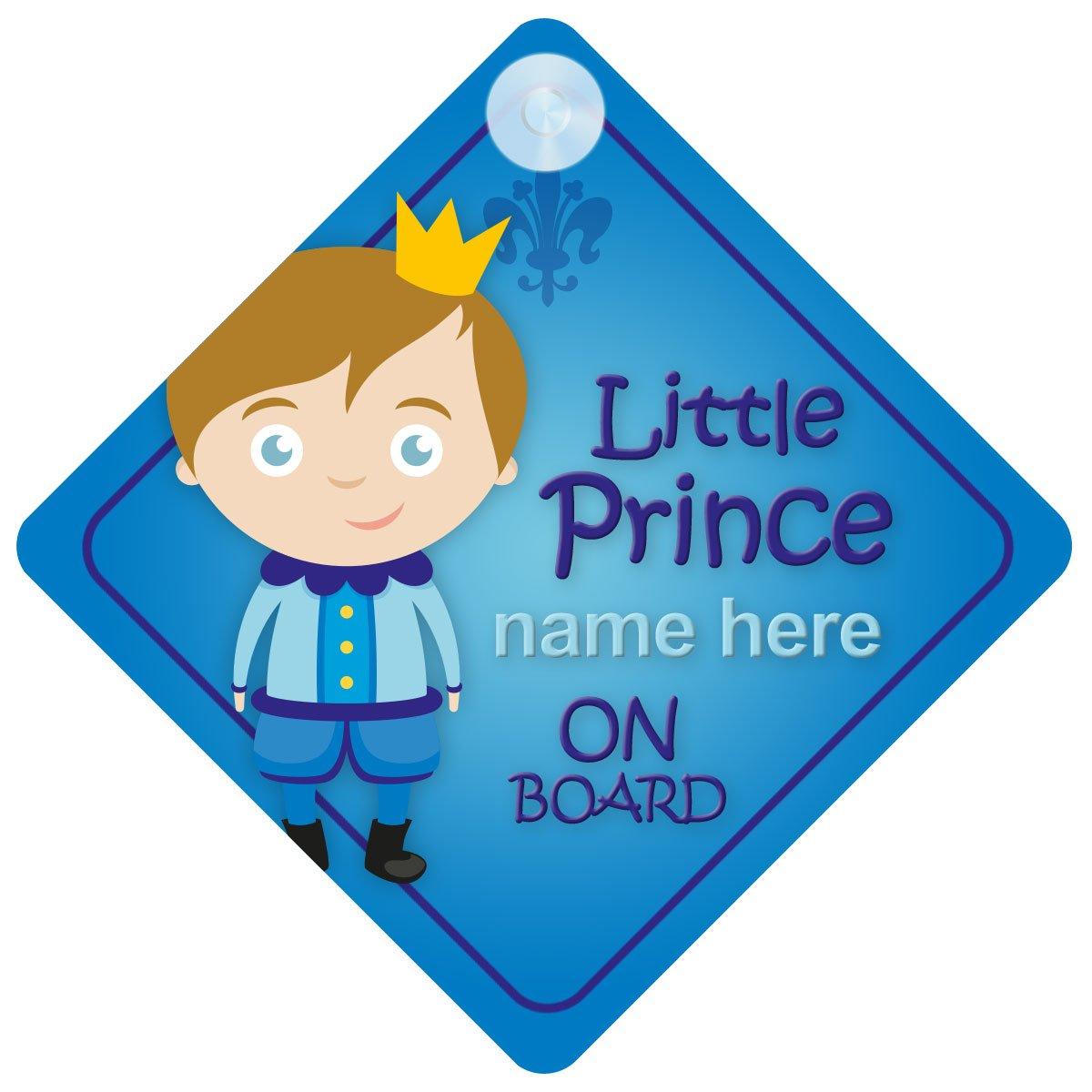 Piccolo Principe a bordo personalizzato auto Sign New Baby Boy/child Gift/present BLP002 Quality Goods Ltd