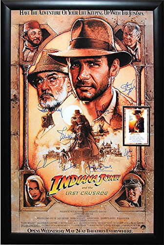 Indiana Jones and the Last Crusade - Signed Movie Poster Framed
