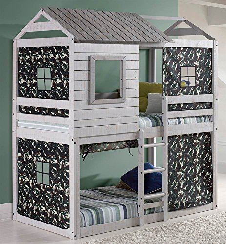 DONCO Kids  Series Bed, One Size, Light Gray