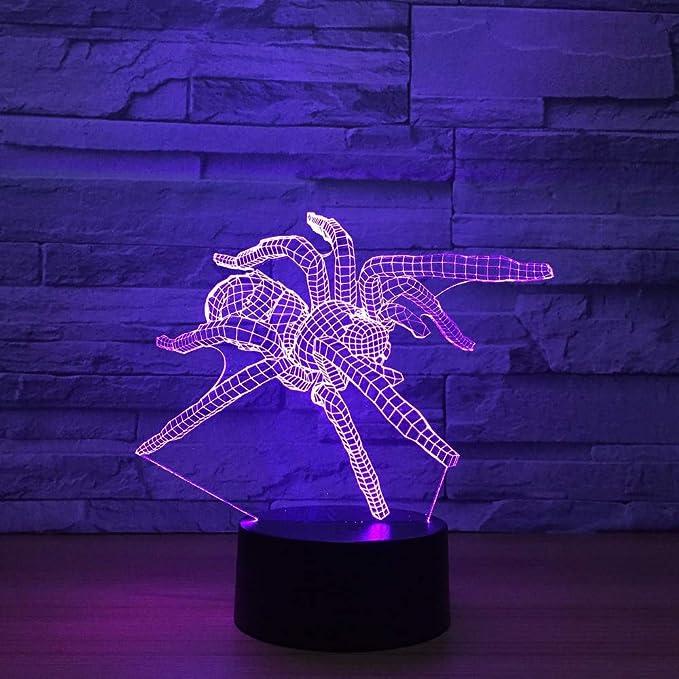 Spider Modelo 3d Lámpara LED Interruptor táctil remoto 7 ...