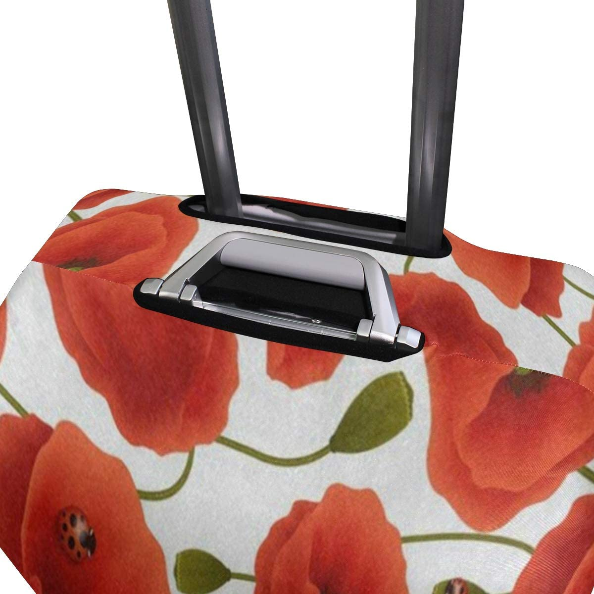 Suitcase Cover Beautiful Red Poppy Flower Luggage Cover Travel Case Bag Protector for Kid Girls