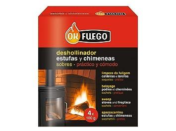 Flower 50220 - deshollinador Estufas y chimeneas, 4x100g: Amazon.es: Jardín