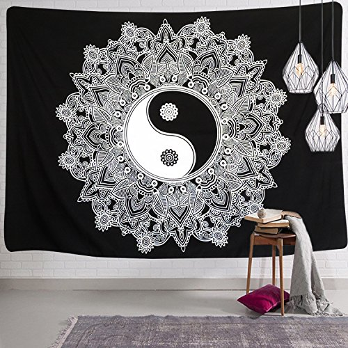 stry YinYang Wall Hanging Tapestry Mandala Tapestry  Indian Traditional Art Bohemian Tapestry Wall Hanging (Out Wall Tapestry)