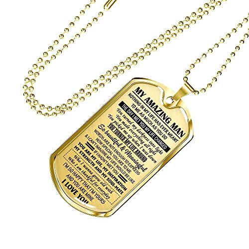 My Amazing Man Pendant Necklace Chain - I Love You Quotes ...