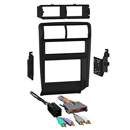Amazon.com: Metra 95-5703B Double DIN Dash Kit + Amplified ... on