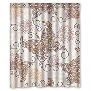 PLATIM The Butterfly Valentine Day Shower Curtains Of Polyester Width X Height 72