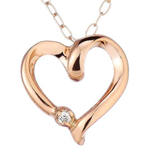 SUEHIRO ダイヤモンド ネックレス K10 ピンクゴールド