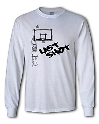 a85af7cc8df7df Men s NBA Chicago Jordan Last Shot letters art long sleeve T-shirt tee shirt  (