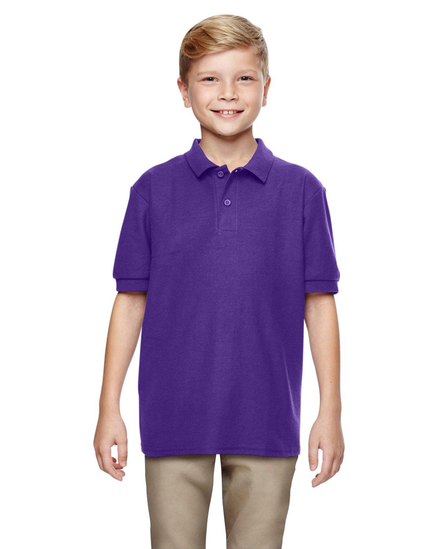 Gildan Boys DryBlend 6.3 oz. Double Piqué Sport Shirt (G728B) -Purple -XS-12PK