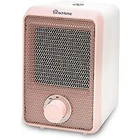 ecHome 500W Mini PTC Ceramic Heater Office Home Pink Instant Heat Warm