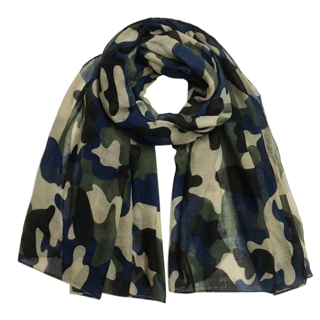 HKFV Creative New Camouflage Stylish Design Superb Fahion Charming Women Fashion Camouflage Women's Shawl Pashmina Stole Scarf Scarves Keep Your Neck Warm In Winter