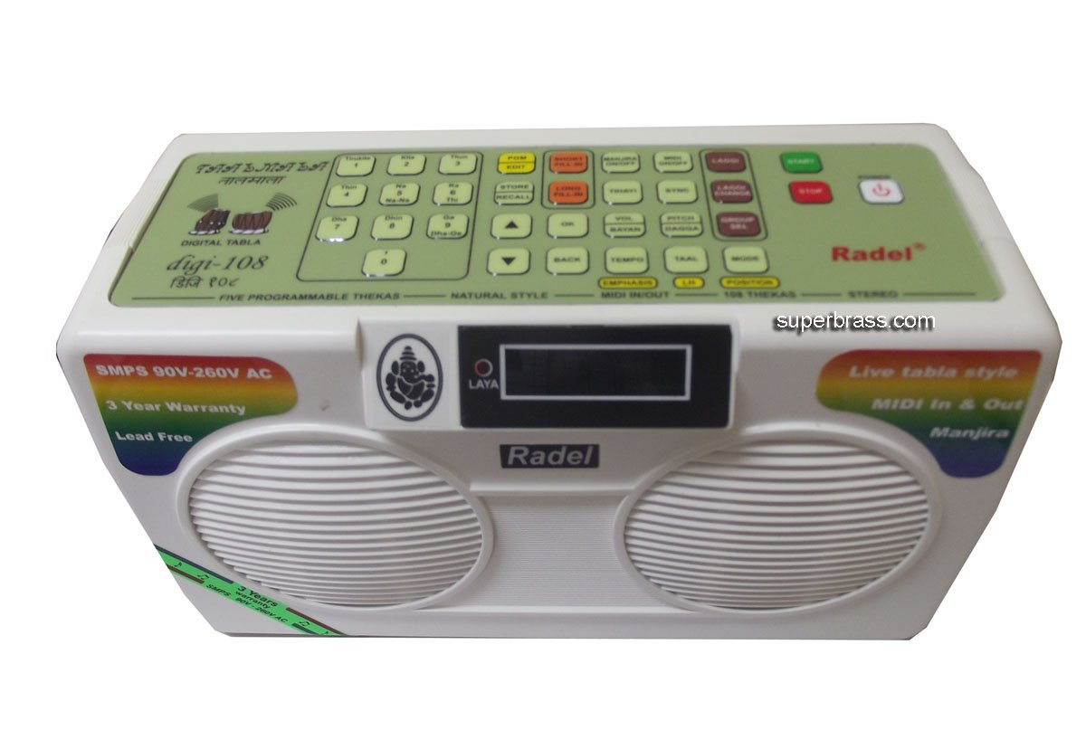 ULTRA-SOPHISTICATED 2015 EDITION RADEL TAALMALA DIGI 108 - THE MOST ADVANCED ELECTRONIC TABLA DRONE by SCEXPORTS