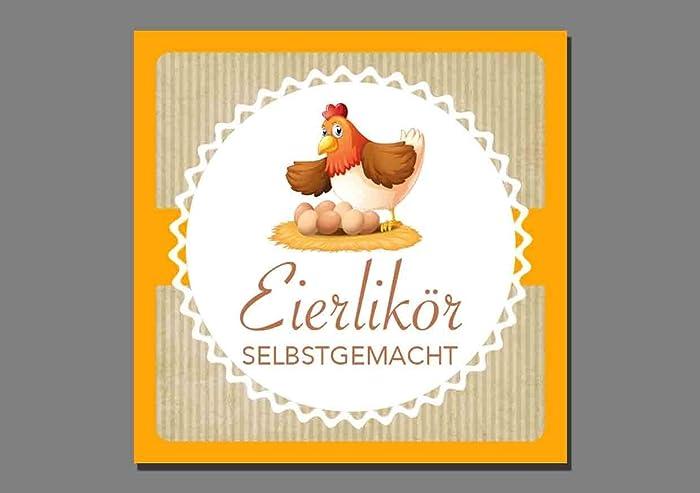 1x Aufkleber Eierlikör - Etiketten Sticker selbstgemacht hausgemacht ...