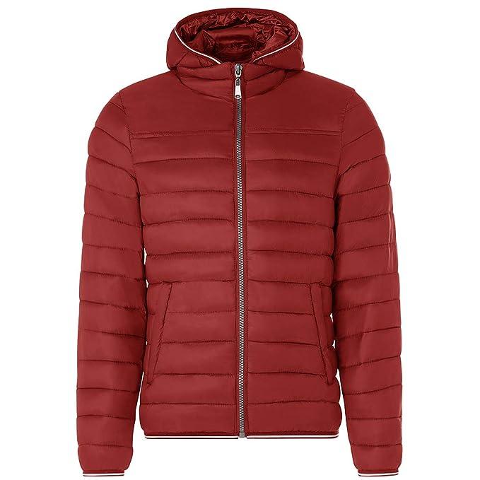Chaqueta Hombre TWIG Ultralight Daily Jacket L228 Abrigo Acolchado Capucha Cardinal Red (M)