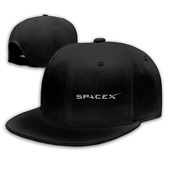 MzuII23oIt SPACEX Baseball Cap Flat Hat Unisex Snapback Cap Black at Amazon  Men s Clothing store  d59e80ef546