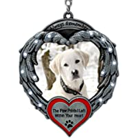 BANBERRY DESIGNS Pet Memorial Photo Ornament – Always Remember The Paw Prints I…