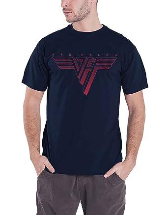 748abd79da0b Amazon.com: Van Halen T Shirt Classic Red Band Logo Official Mens Blue Size  XXL: Clothing