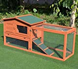 GOOD LIFE Wooden Outdoor Bunny Hutch Rabbit Cage Chicken Duck Coop Large Pet House PET381