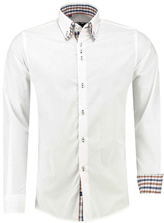 Barbons Herren Hemd - Slim - Fit - Langarm - Premium Bügelleicht Hemden für Business, Freizeit, Hochzeit, Party für Männer Party für Männer