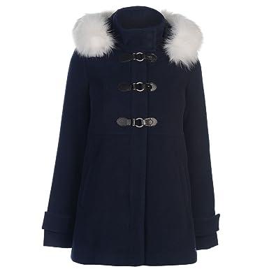 d2f82a96c Kangol Womens Smart Duffle Coat Top Jacket Long Sleeve Hooded Zip ...