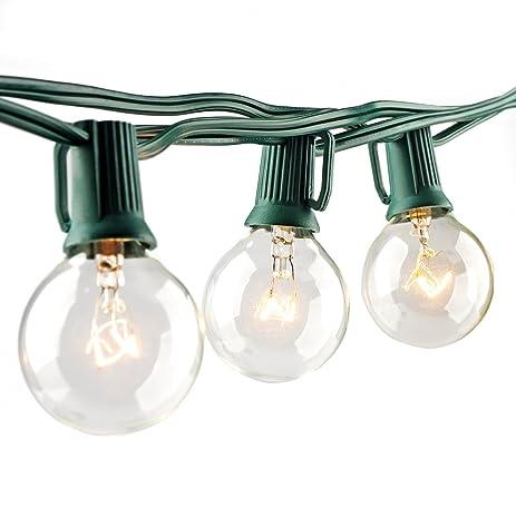 Amazon.com: Escolite G40 String Lights Indoor Outdoor for Wedding ...