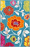 Small Rugs Small Rug Mat Doormat Well Woven Modern Kids Room Kitchen Rug Daisy Flowers Blue 1'8