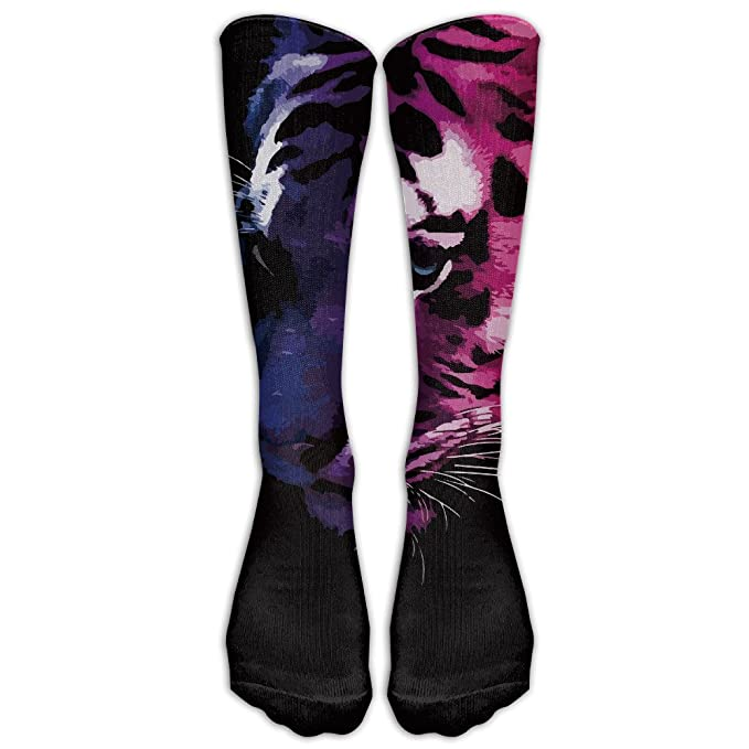 get new so cheap 100% top quality Amazon.com: GoKJ Unisex Fashion Cool Tiger Long Socks: Clothing