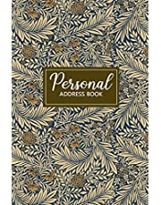 Personal Address Book: Personal Organizer for Addresses | Telephone & Address Book | Address Diary | Keeper | Floral Design